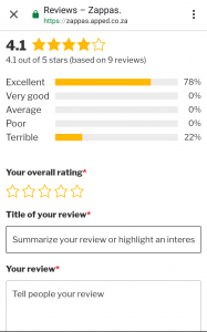 Rating Survey